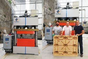Установка и ввод в эксплуатацию деревянный паллет машина в Бразилии