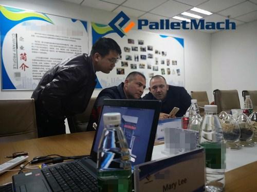 Заказчик из Болгарии Запланирована покупка деревянной поддонной машины